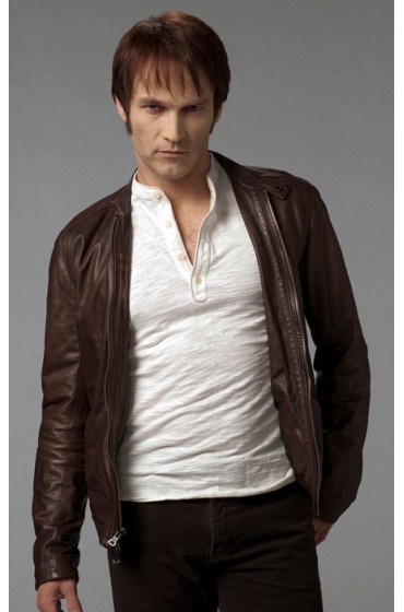 True Blood Bill Compton Brown Leather Jacket