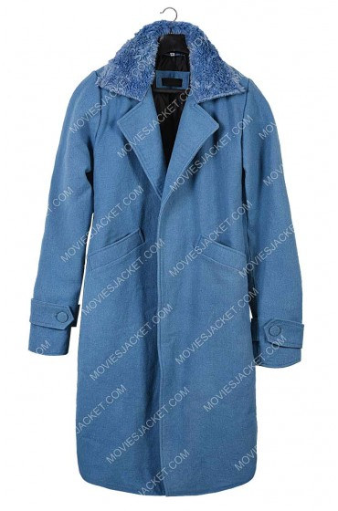 Bird Box Malorie Blue Coat