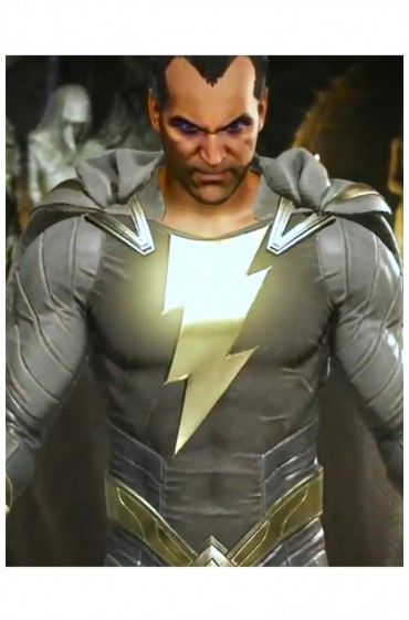 Black Adam Injustice 2 Leather Jacket