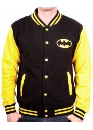 Yellow and Black Batman Varsity Jacket