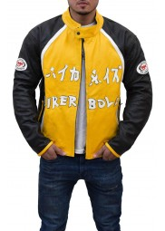 Black and Yellow Biker Boyz Jacket