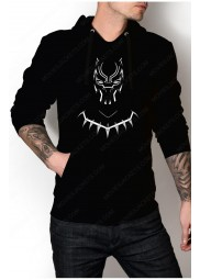 "Black Panther White Mask Logo Hoodie ""Free T-Shirt"""