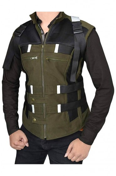 "Black Widow Infinity War Leather Vest ""Free T-Shirt"""