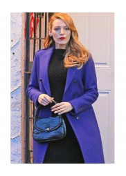 Blake Lively Film The Age of Adaline Blue Trench Coat