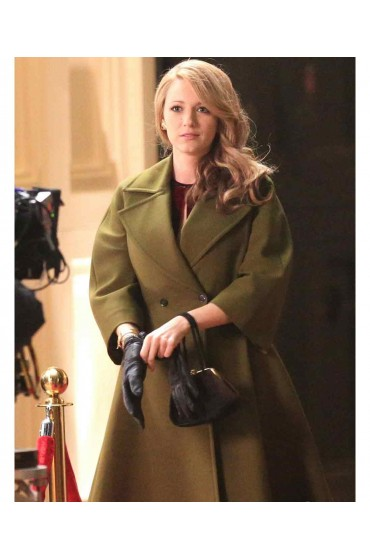 Blake Lively Movie The Age of Adaline Green Trench Coat