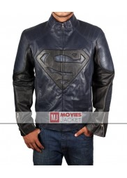 Blue and Black Superman Smallville Leather Jacket
