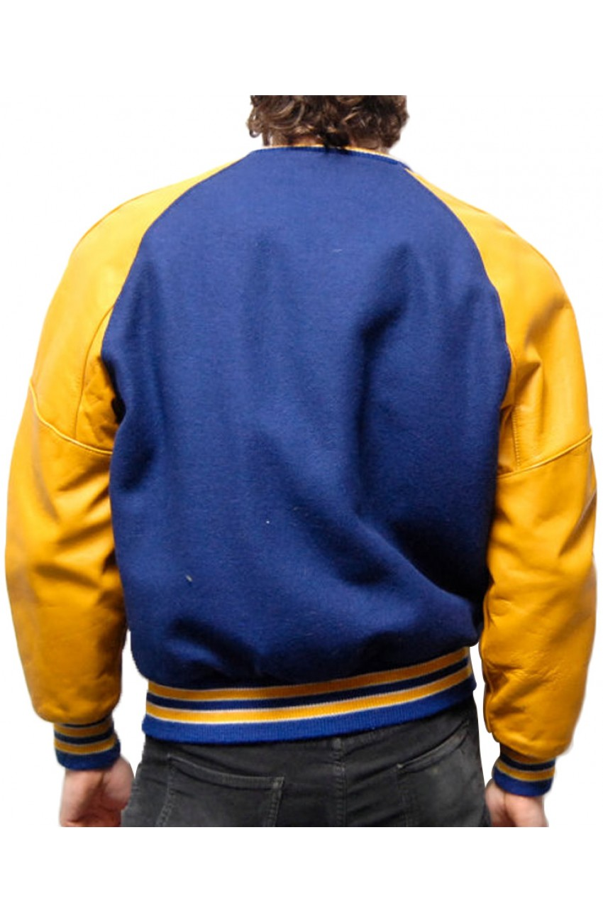 Blue and Yellow Varsity Jacket - Movies Jacket