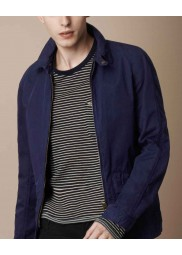Blue Cotton Field Burberry Brit Men Jacket