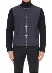 Men's Casual Wear Blue Quilted Varsity Jacket