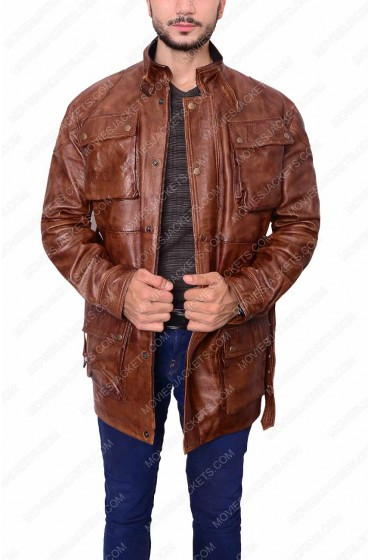 Brad Pitt Motorcycle Riders Panther Benjamin Button Leather Jacket