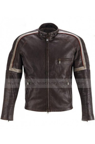 Brent Magna Getaway Movie Ethan Hawke Brown Leather Jacket