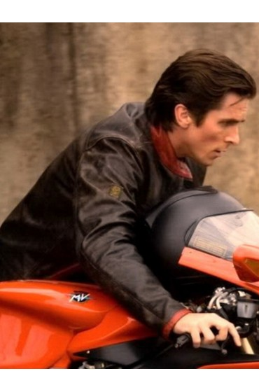Bruce Wayne The Dark Knight Motorcycle Leather Jacket
