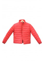 Red Mens Down Puffer Quilted Jacket