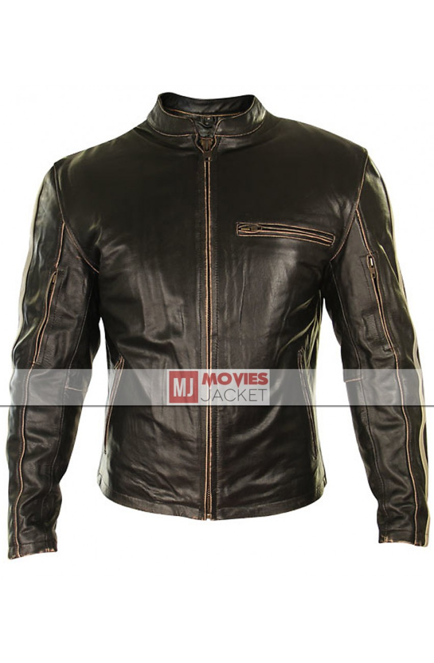 racer leather motorcycle jacket for men