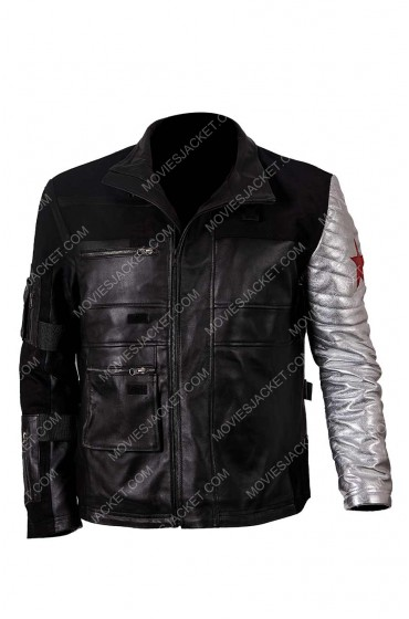 "Captain America Civil War Winter Soldier Jacket ""Free T-Shirt"""