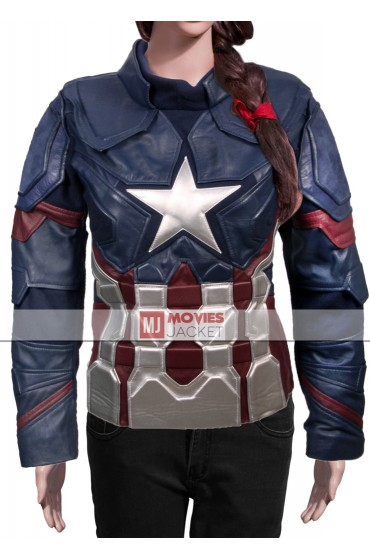 Captain America Civil War Women's Leather Jacket