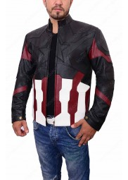 "Captain America Infinity War Leather Jacket ""Free T-Shirt"""