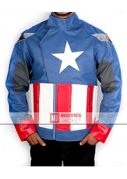 The Avengers 2012 Movie Captain America Leather Jacket