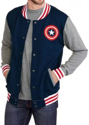 Captain America Letterman Varsity Jacket