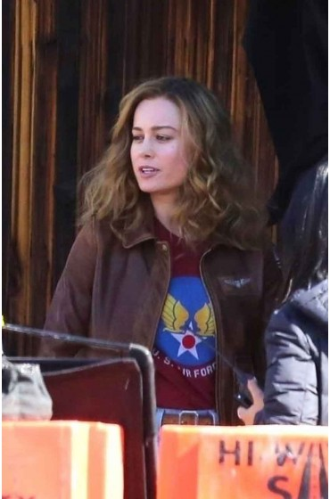 Captain Marvel Brie Larson Flight Bomber Jacket