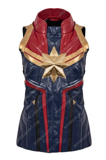 Captain Marvel Leather Vest