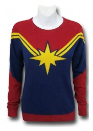 Captain Marvel Womens Costume Sweater