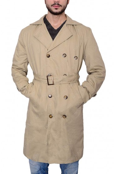 Supernatural Misha Collins Castiel Trench Cotton Coat