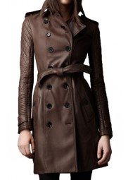 Kate Beckett Castle Stana Katic Leather Coat