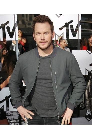 Chris Pratt Movie Jurassic World Owen Grey Leather Jacket