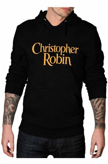Christopher Robin Logo Pullover Black Hoodie
