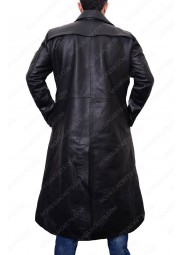 Colin Farrell Total Recall Trench Leather Coat