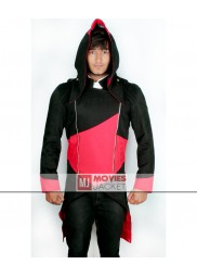 Connor Kenway Red and Black Assassins Creed Hoodie Jacket