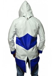Blue and White Assassins Creed Connor Kenway Jacket