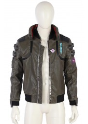 Cyberpunk 2077 Grey Leather Jacket