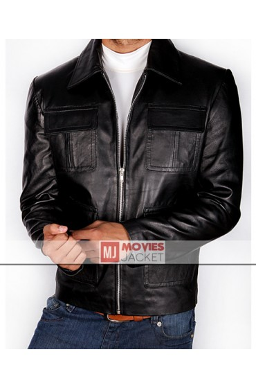 Vampire Diaries Damon Salvatore Leather Jacket