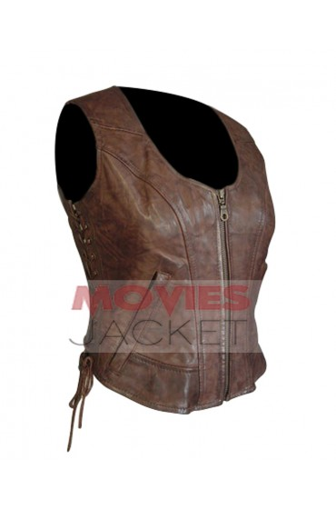 Danai Gurira The Walking Dead Michonne Leather Vest