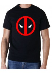 Deadpool Red Logo Black T-Shirt