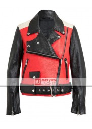 Biker Style Demi Lovato Leather Jacket