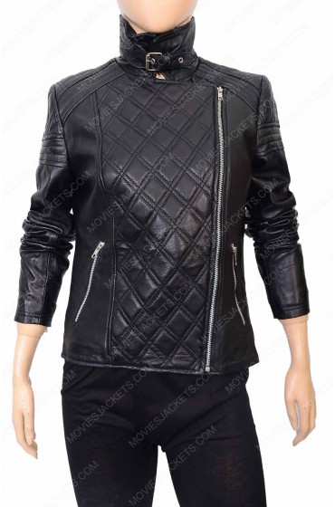 Designer Womens Quilted Biker Jacket