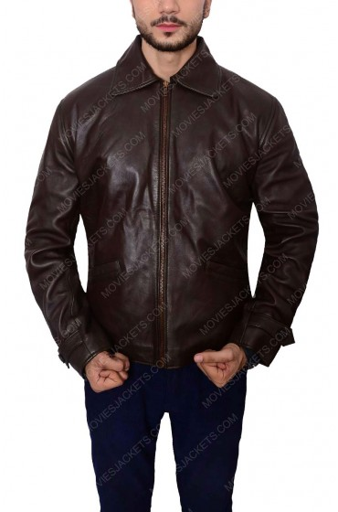 Distressed Daniel Craig Skyfall Leather Jacket