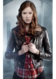 Doctor Who Amy Pond Brown Leather Jacket