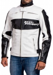 Fast and Furious 7 Movie Dominic Toretto Racer Leather Jacket