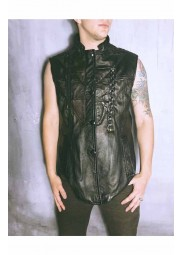Dragoncon Burning Man Leather Vest