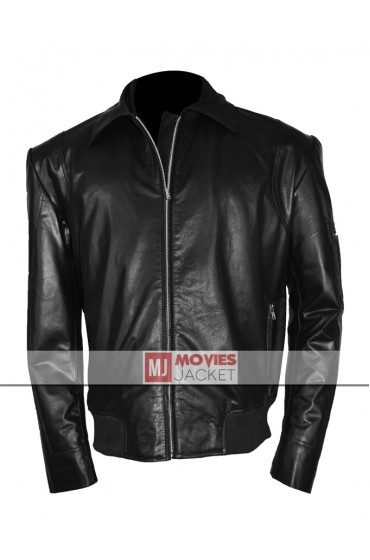 Dwayne Johnson Driver Faster Movie The Rock Leather Jacket