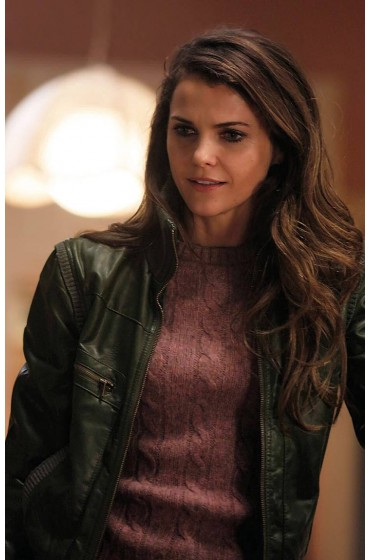 Elizabeth Jennings The Americans Keri Russell Green Jacket