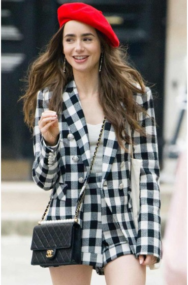 Emily in Paris Lily Collins Coat