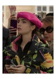 Emily In Paris Lily Collins Floral Puffer Jacket