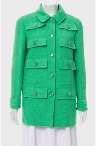 Emily In Paris Lily Collins Green Coat