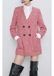 Emily In Paris Lily Collins Houndstooth Coat