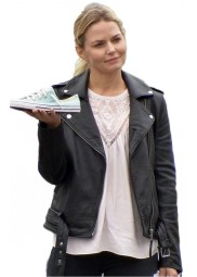 Emma Swan Once Upon a Time Season 6 Black Leather Jacket